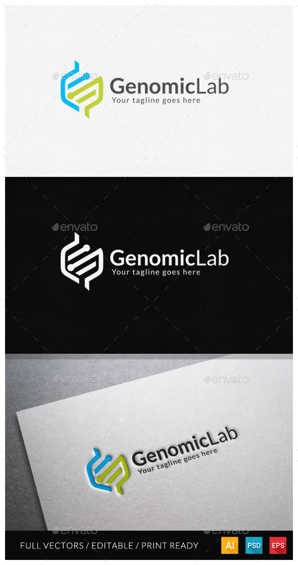 Genomic Logo Template - Abstract Logo Templates