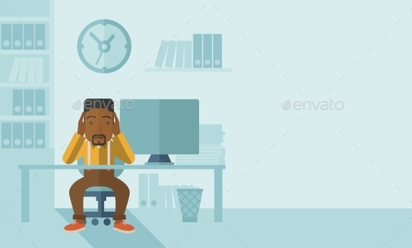 Overworked Businessman is Under Stress - Concepts Business