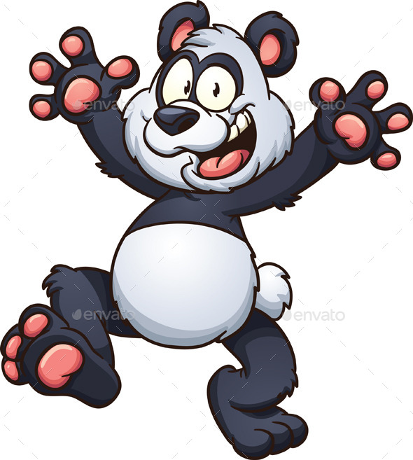 Cartoon Panda - Animals Characters
