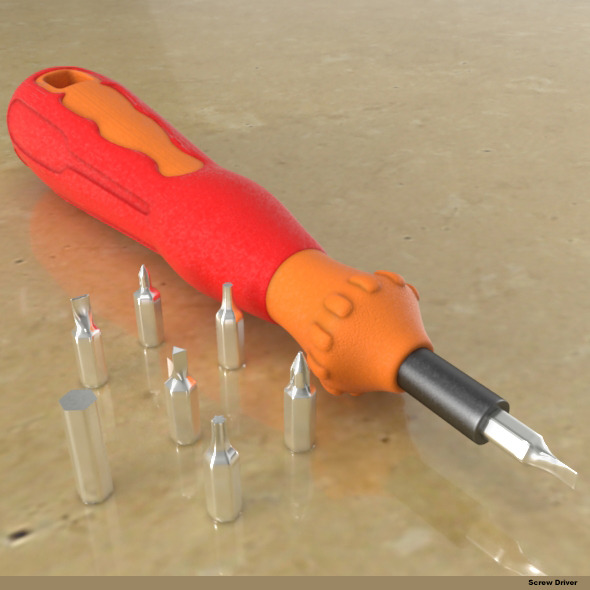 screwdriver set - 3DOcean Item for Sale