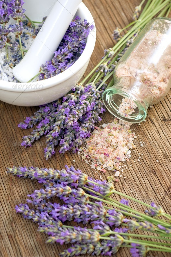 Lavender salt - Stock Photo - Images