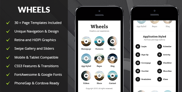 Wheels Mobile | Mobile Template - Mobile Site Templates
