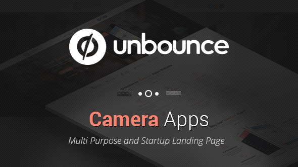 Camera Apps - Unbounce Landing Page - Unbounce Landing Pages Marketing
