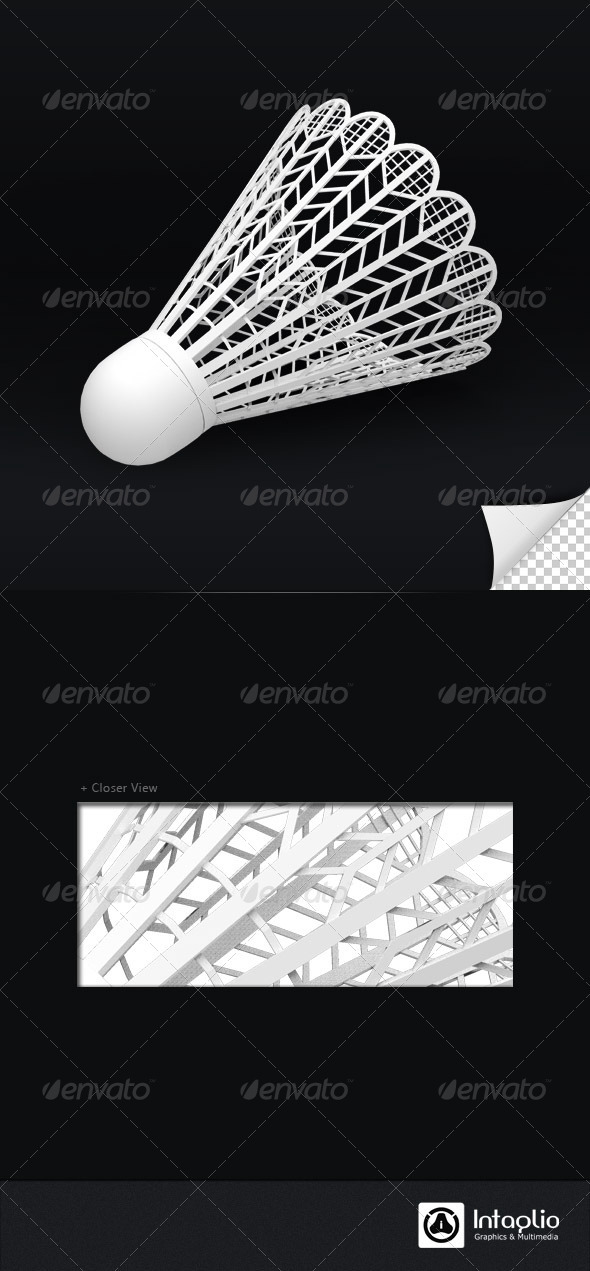 Shuttlecock 3D Render - Objects 3D Renders