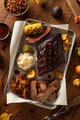 Barbecue Smoked Brisket and Ribs Platter - PhotoDune Item for Sale