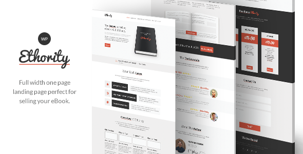 Ethority – One Page eBook Landing