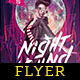 Night Sound Flyer Template - GraphicRiver Item for Sale