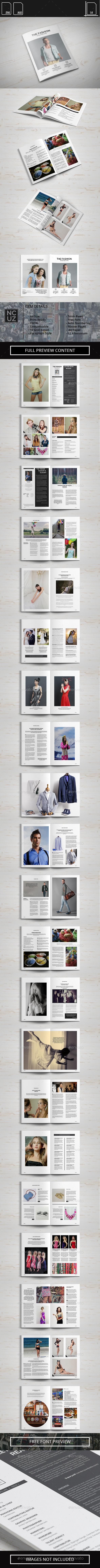 Simple Fashion Magazine  - Magazines Print Templates