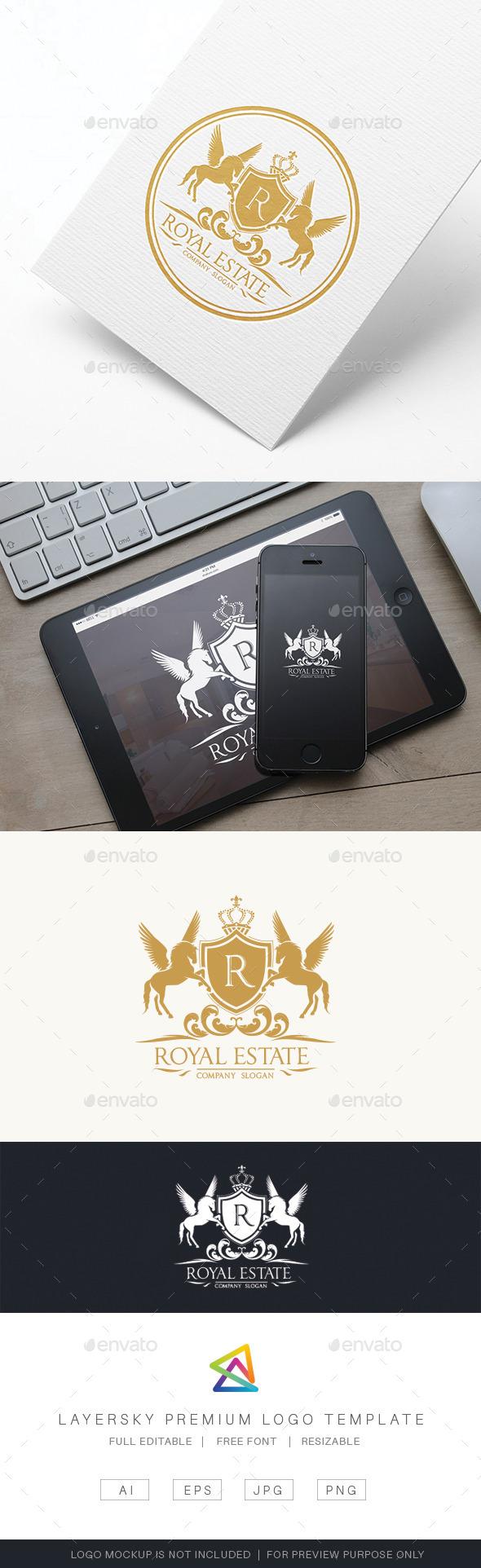 Royal Real Estate - Crests Logo Templates