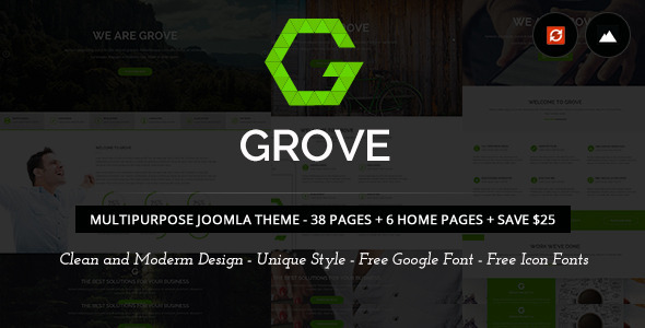 Grove – Responsive Multi-Purpose  Joomla Theme