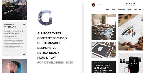 Grid – Responsive Portfolio – Tumblr Theme