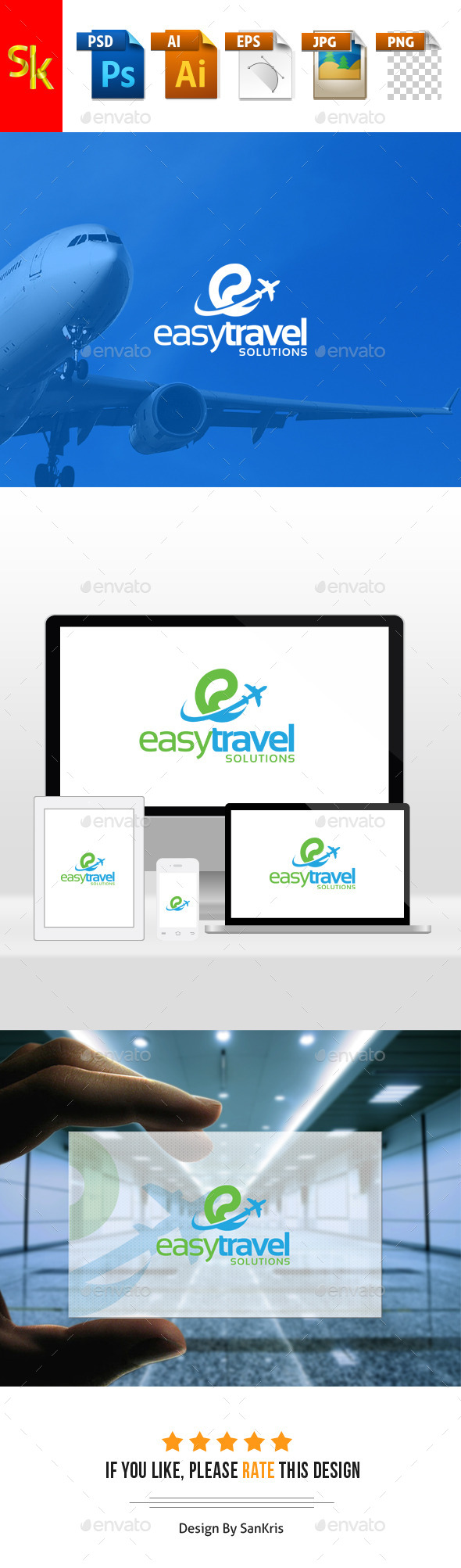 Easy Travel Solutions - Abstract Logo Templates