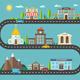 Urban Landscape in Flat Design - GraphicRiver Item for Sale