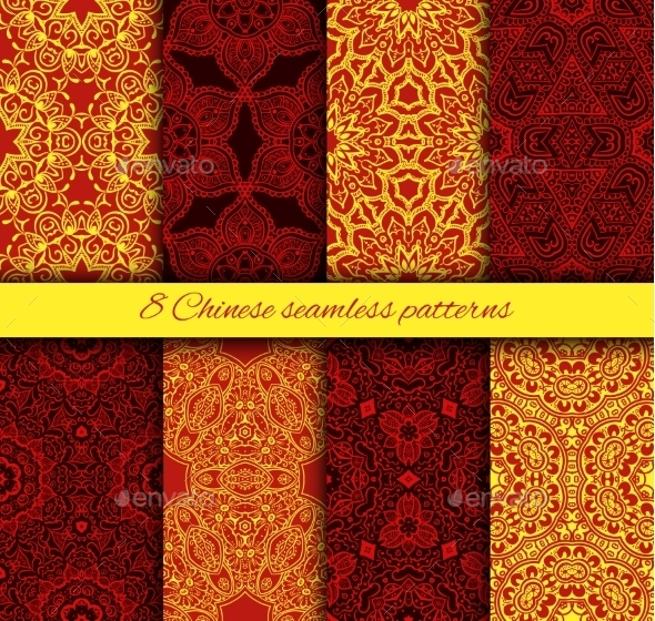 Chinese Seamless Patterns - Patterns Decorative