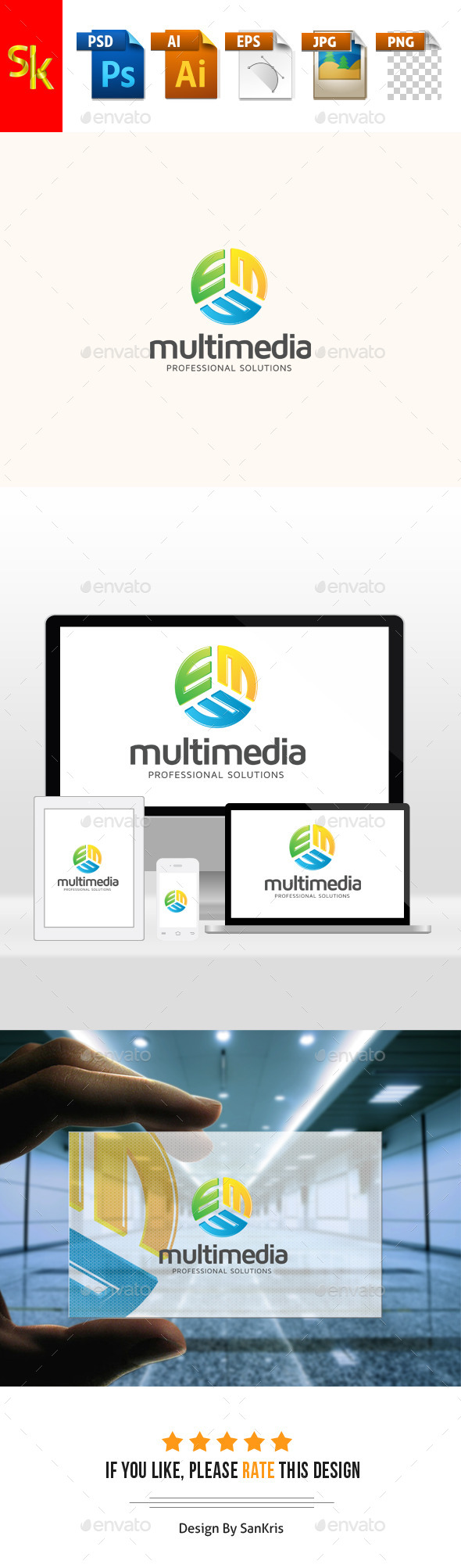 Multimedia Professional Solutions - Letters Logo Templates