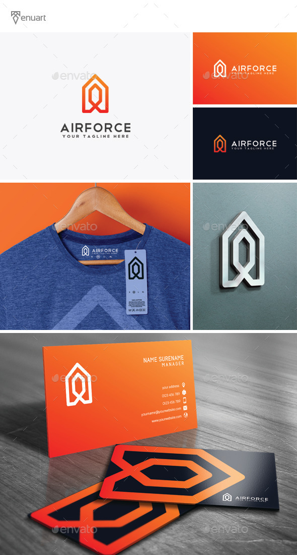 Airforce - Letter A Logo - Letters Logo Templates