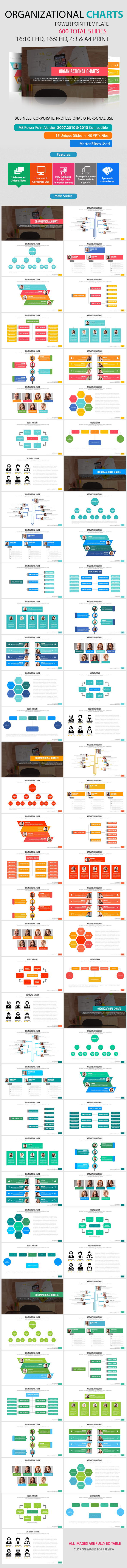 Organizational Chart Power Point Presentation - Abstract PowerPoint Templates