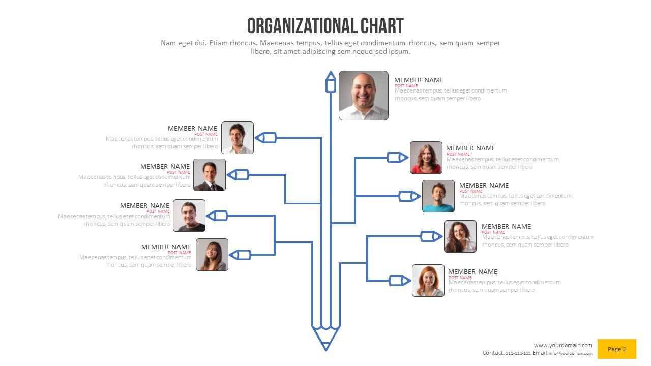 Organizational Chart Power Point Presentation By