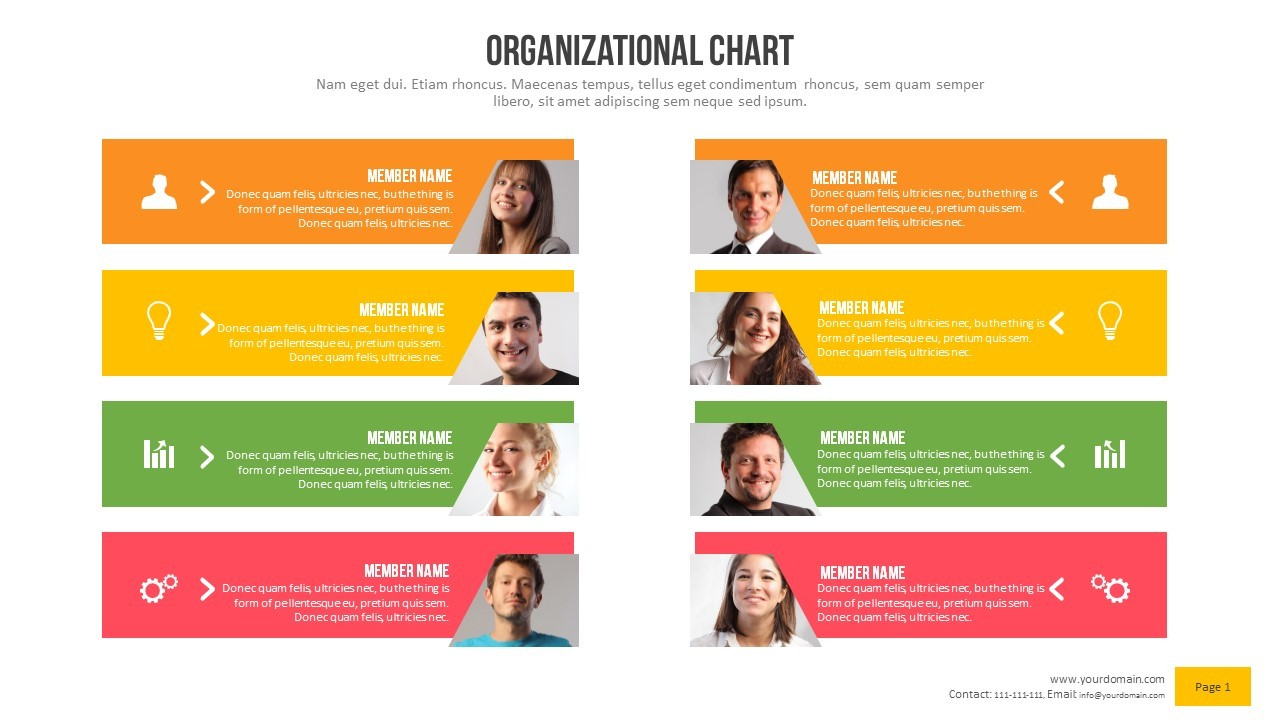 Organizational Chart Power Point Presentation By Rasignature - Illustrator organizational chart template