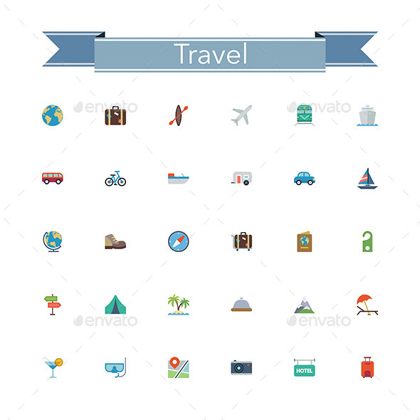 Travel Flat Icons - Miscellaneous Icons