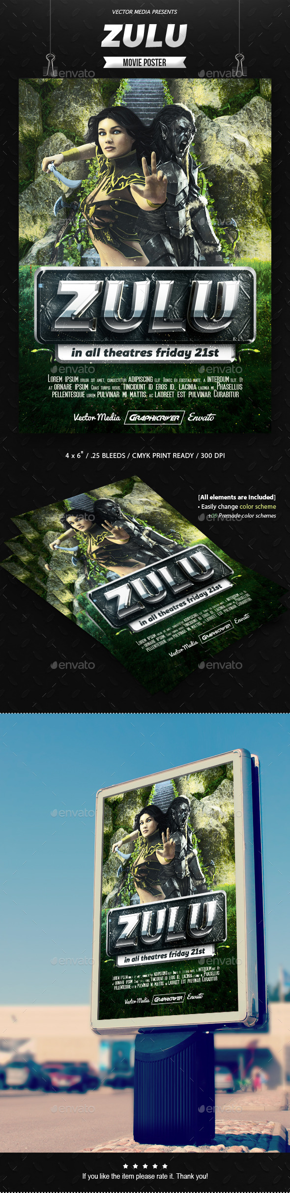 Zulu - Movie Poster - Miscellaneous Events