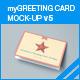 myGreeting Card Mock-up v5 - GraphicRiver Item for Sale