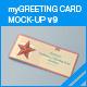 myGreeting Card Mock-up v9 - GraphicRiver Item for Sale