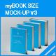 myBook Size Mock-up v3 - GraphicRiver Item for Sale