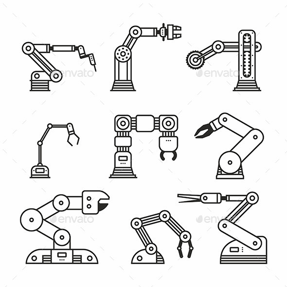 Industrial Robot Arm - Man-made Objects Objects
