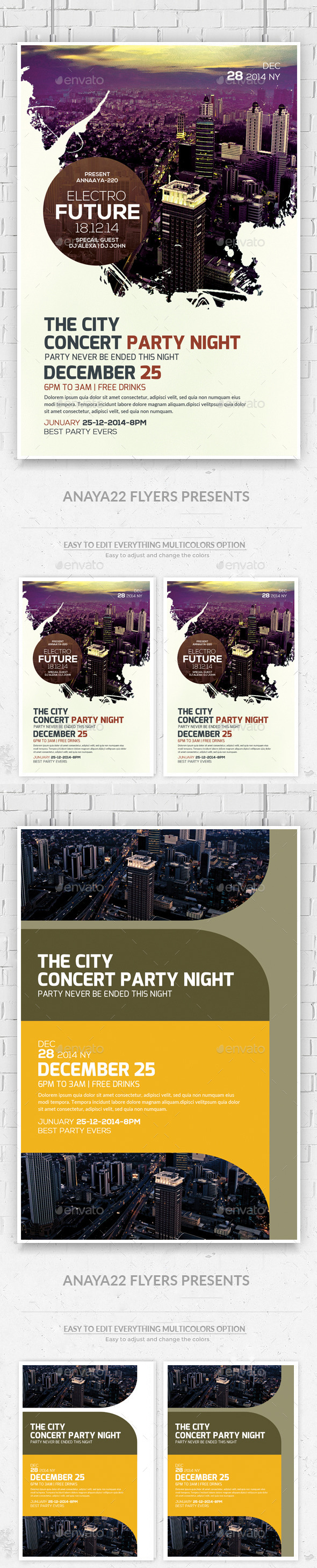 Futuristic Flyers Bundle - Clubs & Parties Events