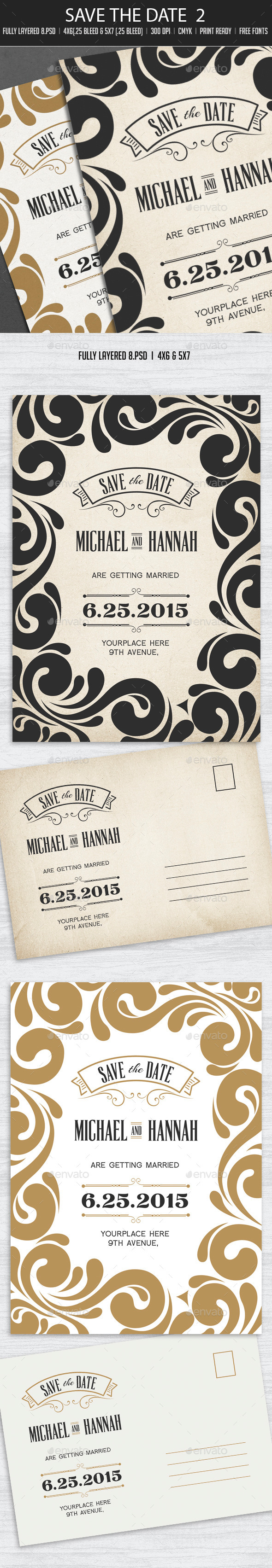 Save The Date Postcard 2 - Weddings Cards & Invites