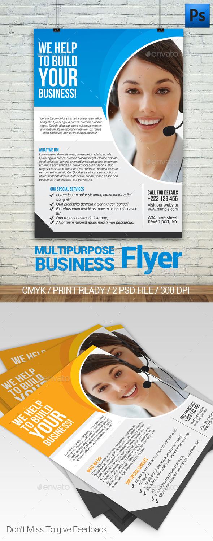 Multipurpose Business Flyer - Flyers Print Templates