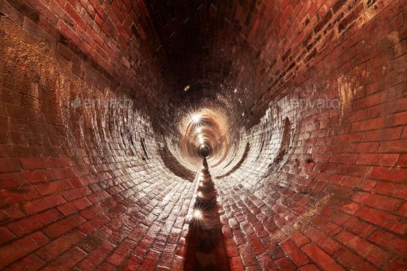 Old sewage treatment plant - Stock Photo - Images