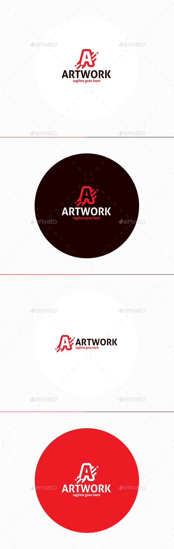 Art Work Logo • Letter A - Letters Logo Templates