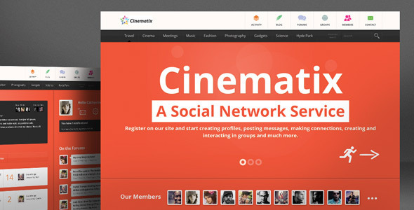 Cinematix – BuddyPress Theme