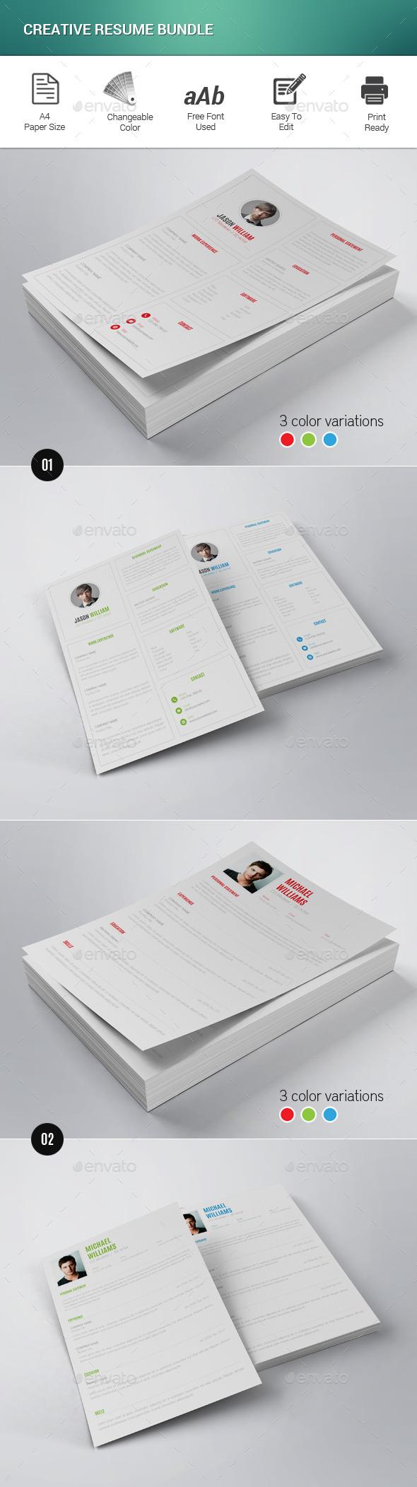 Creative Resume Bundle - Resumes Stationery