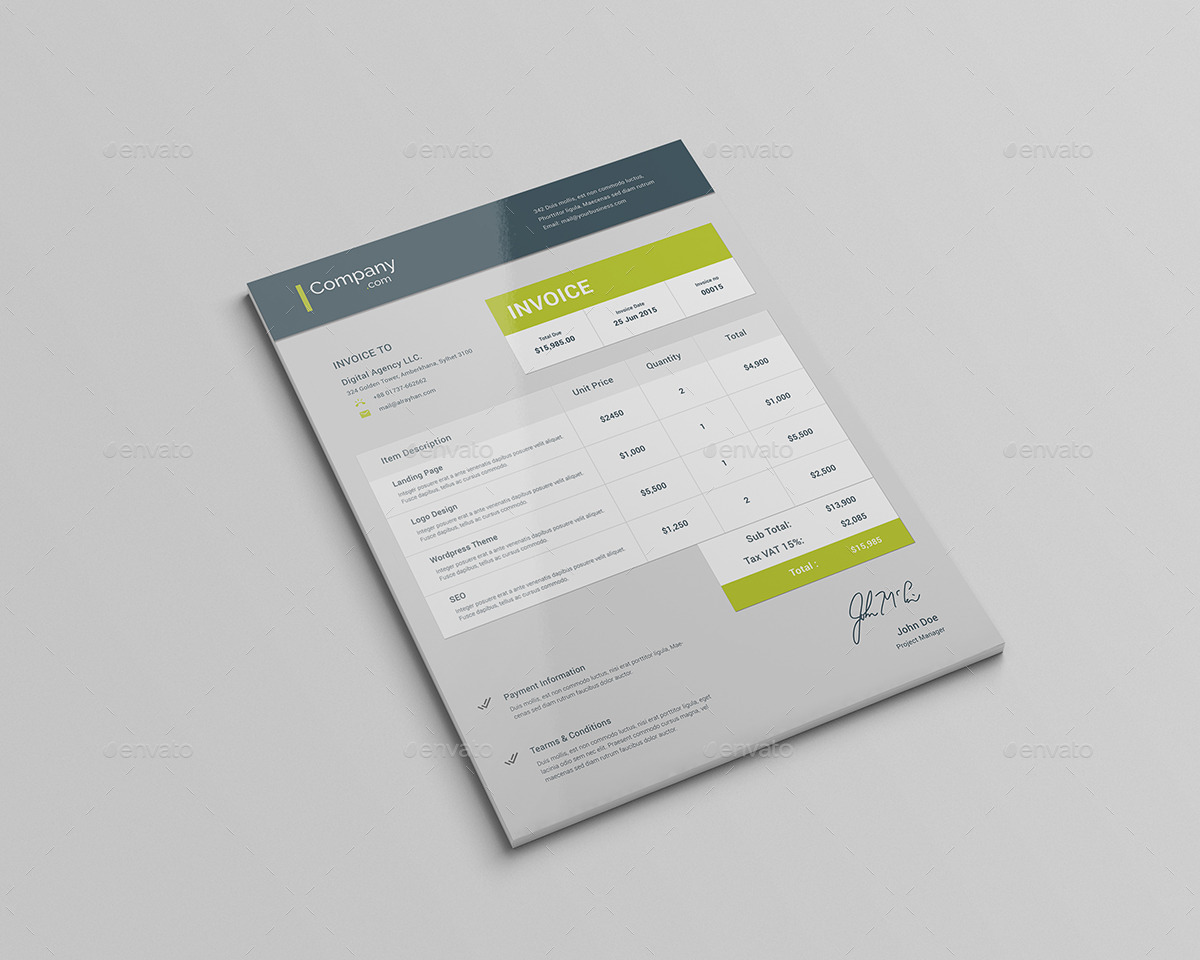 Material Invoice by rtralrayhan | GraphicRiver