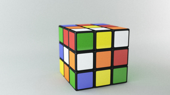 Realistic Rubix Cube - 3DOcean Item for Sale
