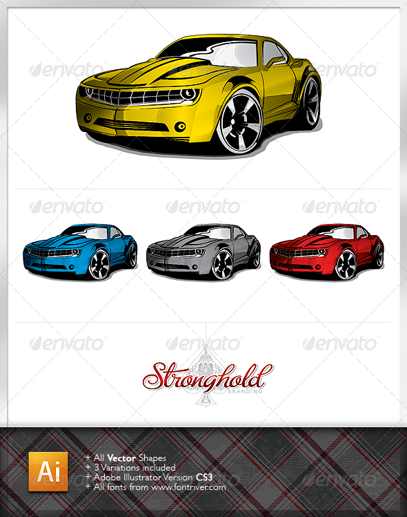 Stylized Muscle Car - Man-made Objects Objects
