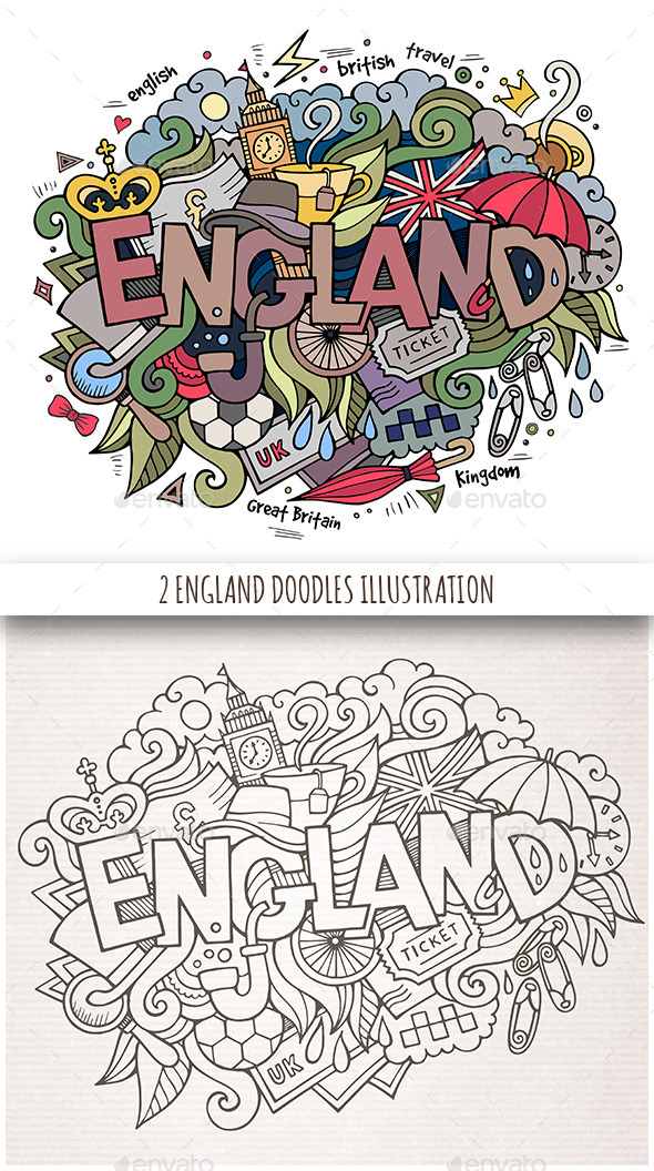 England Doodles Designs - Travel Conceptual
