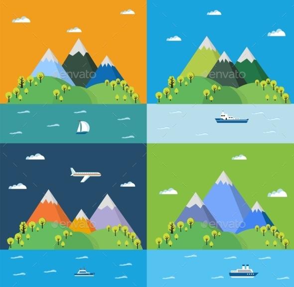 Set Landscape - Landscapes Nature