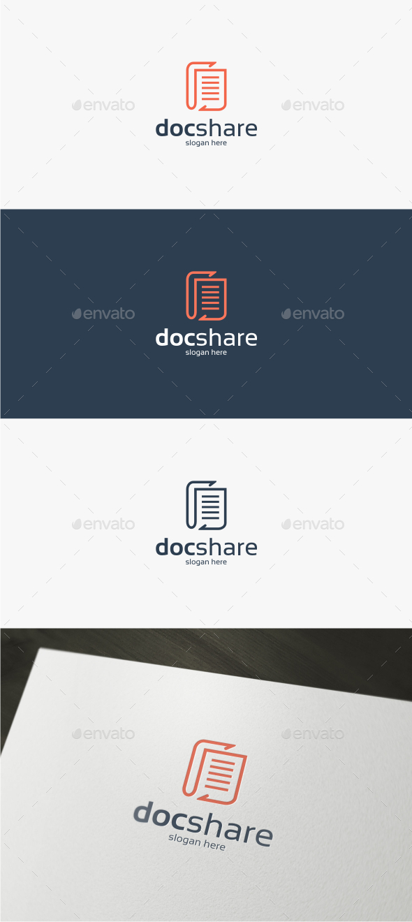 Doc Share - Logo Template - Objects Logo Templates