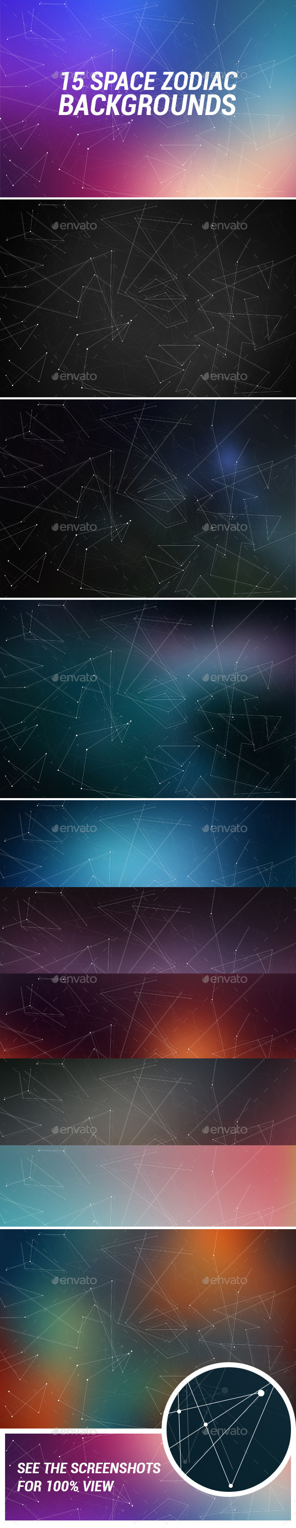 15 Space Zodiac Backgrounds - Backgrounds Graphics