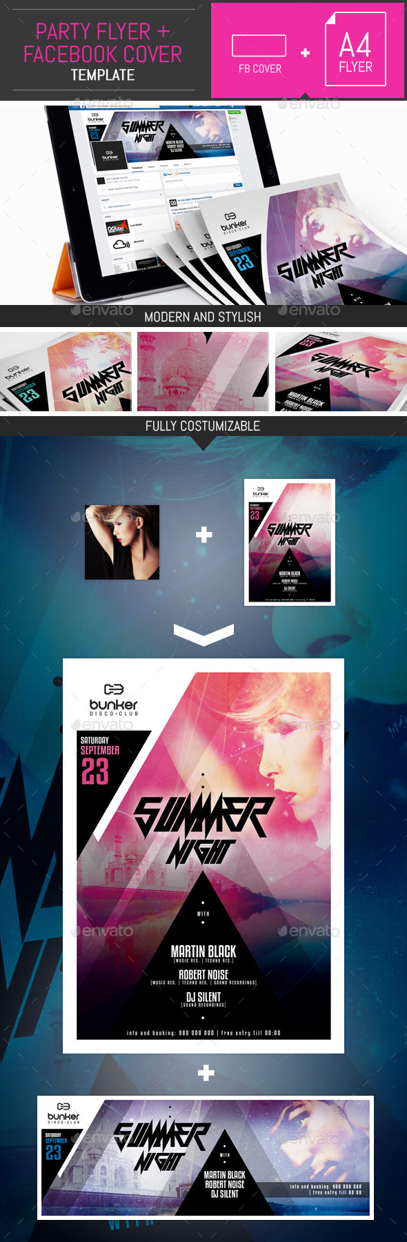 Dj Party Flyer/Poster Templates 002 - Clubs & Parties Events