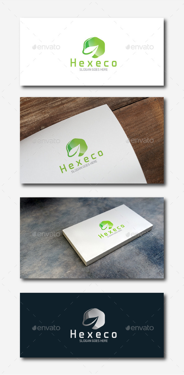 Leaf Hexagon Logo - Nature Logo Templates