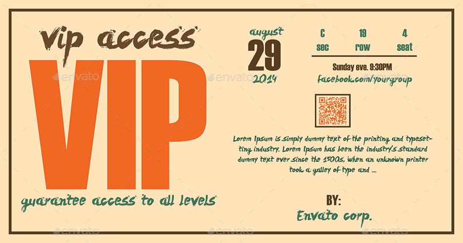 fantastic vip pass template motif example resume ideas