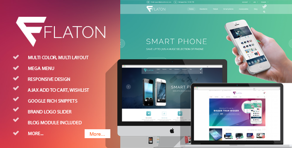 Flaton – Responsive Magento Digital Theme
