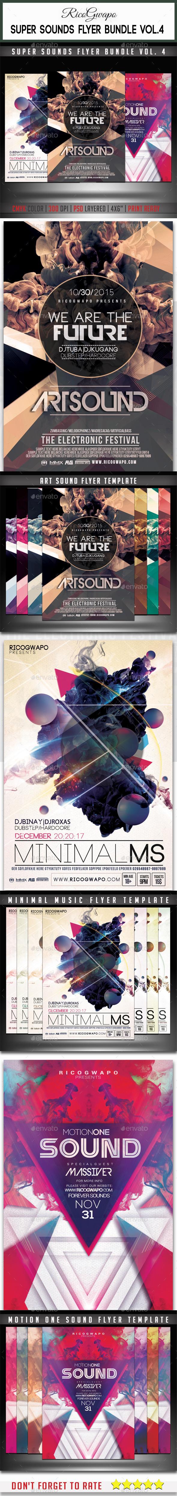 Super Sounds Flyer Bundle Vol. 4 - Events Flyers