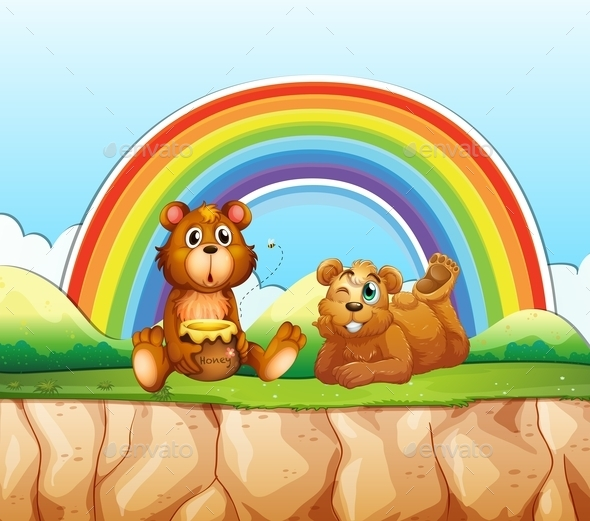 Bears and Rainbow - Animals Characters
