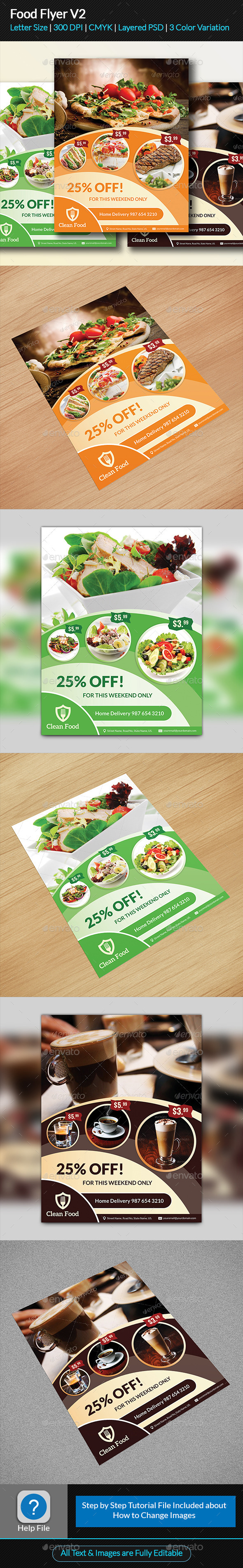 Food Flyer V2 - Restaurant Flyers
